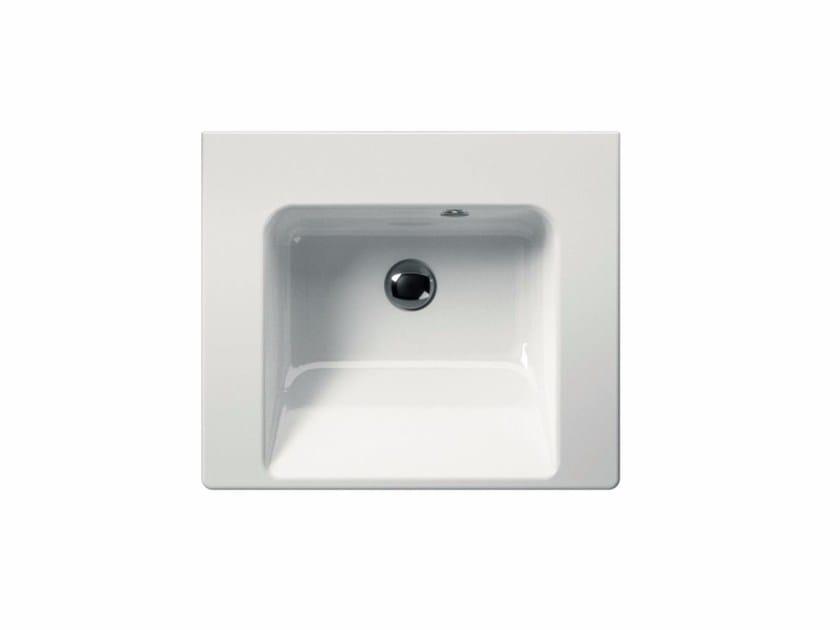 Rectangular washbasin NORM 55 | Washbasin - GSI ceramica