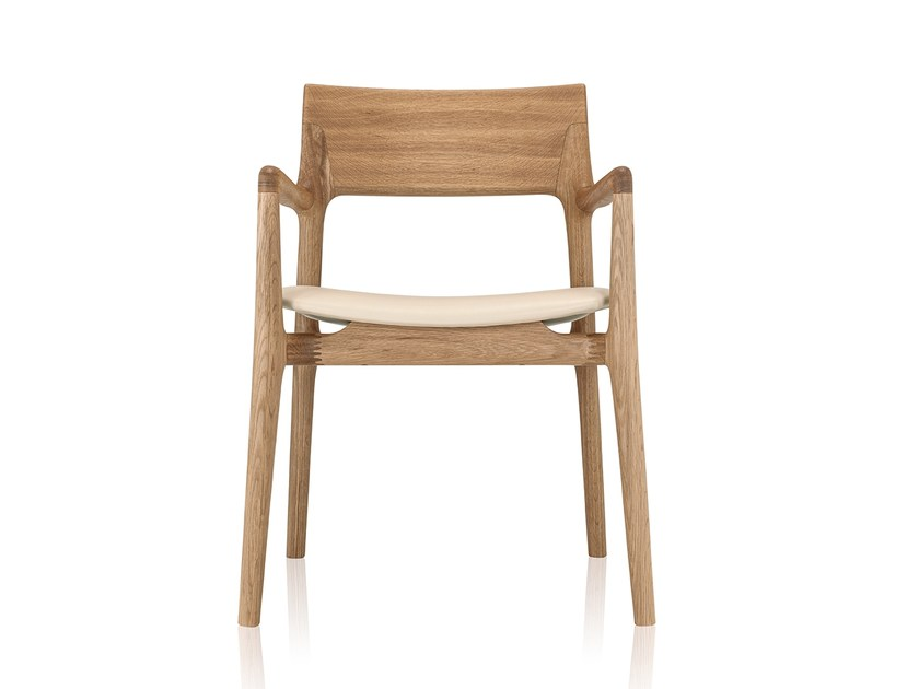 Solid wood chair with armrests NORMA | Chair with armrests - Sollos
