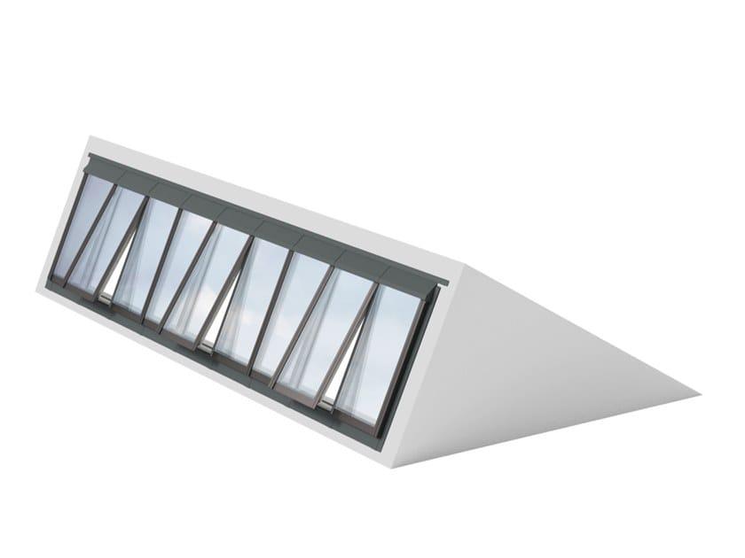 Finestra da tetto in acciaio e vetro northlight 25 90 for Velux motorizzato