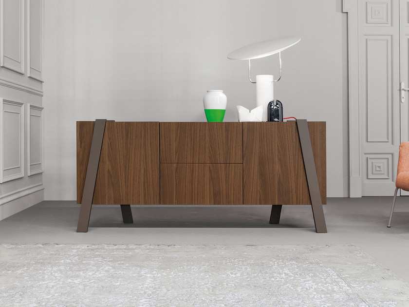 Wooden sideboard with doors NOTE | Sideboard - Bonaldo