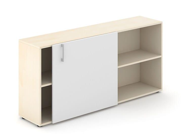Office storage unit with sliding doors NOVA BASIC | Office storage unit by NARBUTAS