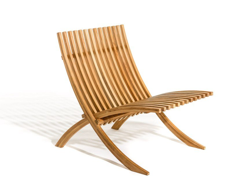Teak deck chair NOZIB | Deck chair by Skargaarden