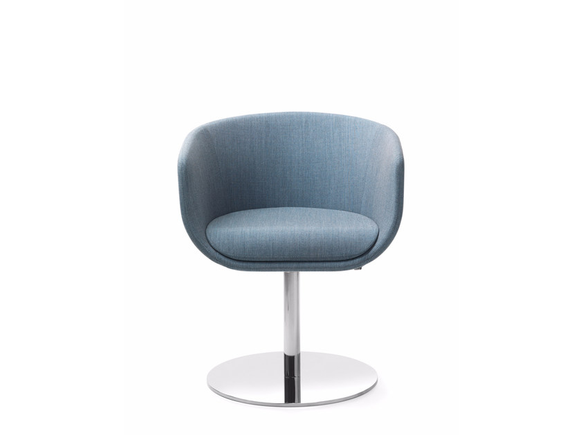 Swivel easy chair with armrests NU 10R/20R by profim