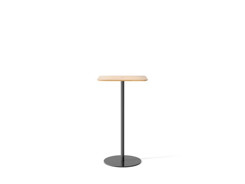 Square oak high table NÚCLEO | High table - Punt