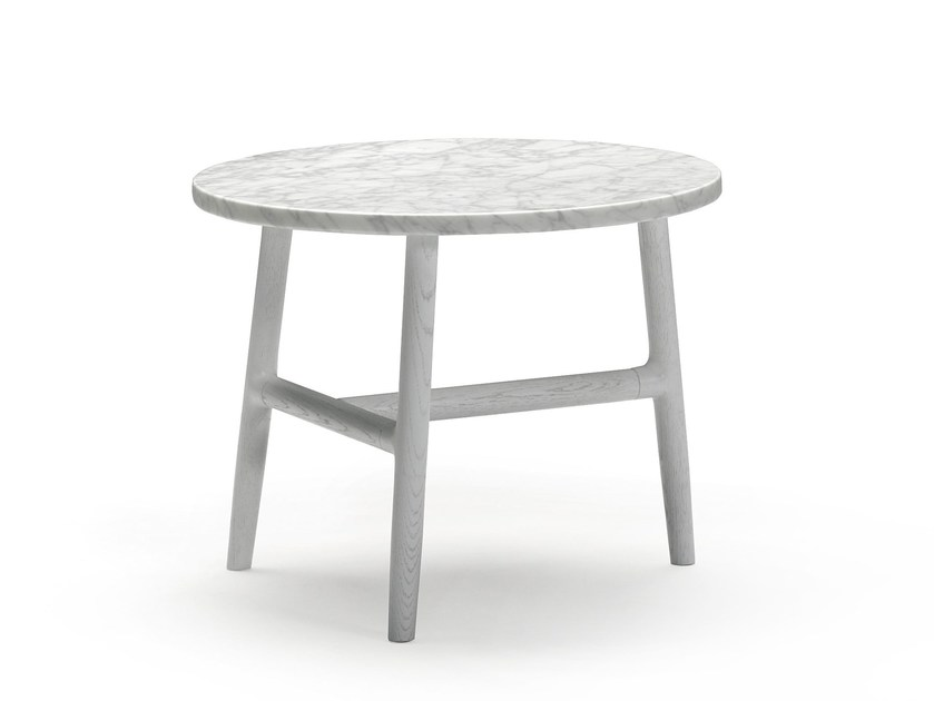Round marble coffee table NUDO | Marble coffee table - SANCAL