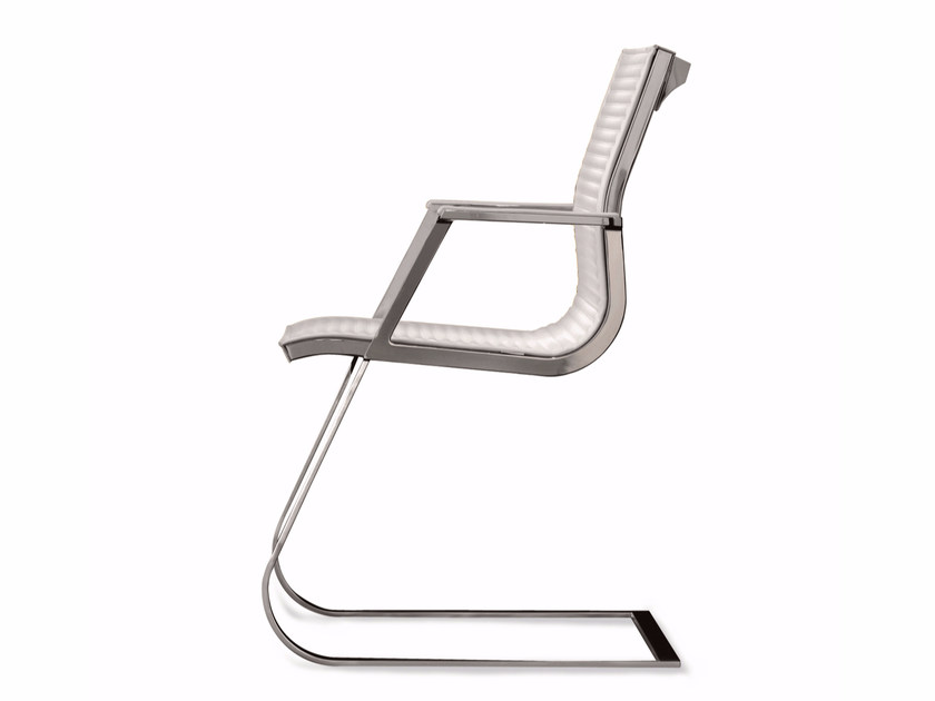 Cantilever reception chair with armrests NULITE | Cantilever chair by Luxy