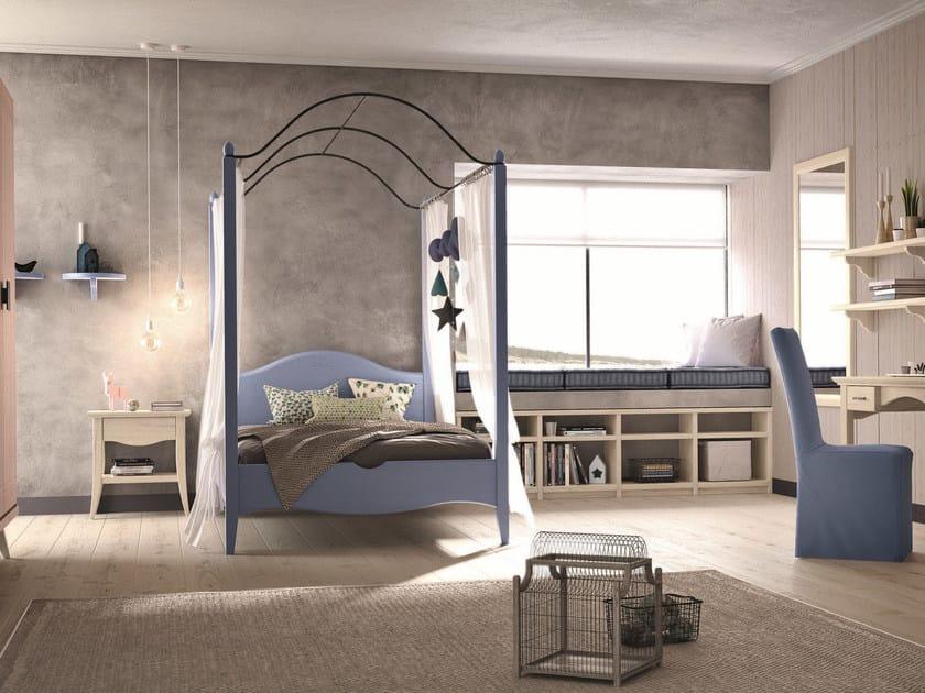 Solid wood bedroom set NUOVO MONDO N20 by Scandola Mobili