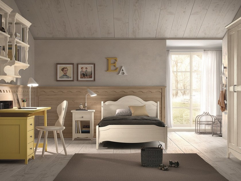 Solid wood bedroom set NUOVO MONDO N22 by Scandola Mobili