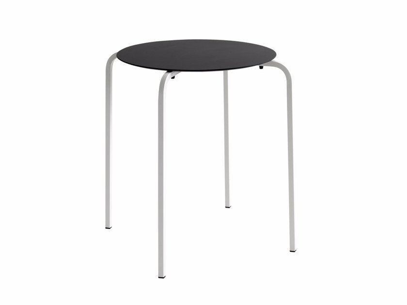 Stackable round table NX 519 - Metalmobil