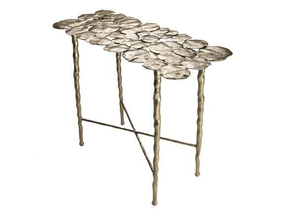 Rectangular brass console table NYMPHEA SMALL - Hamilton Conte Paris