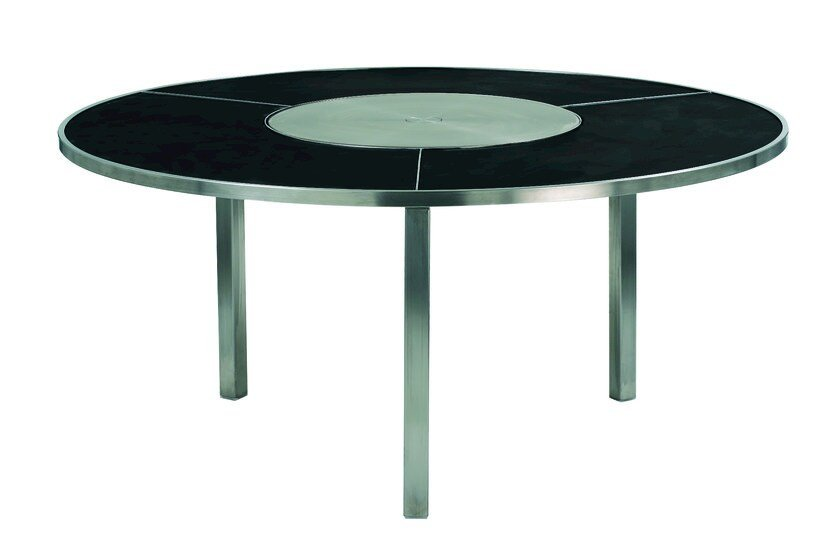 Round garden table with Lazy Susan O-ZON | Table with Lazy Susan - ROYAL BOTANIA