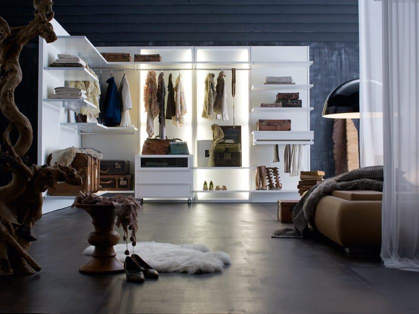 Sectional walk-in wardrobe OASI - Silenia