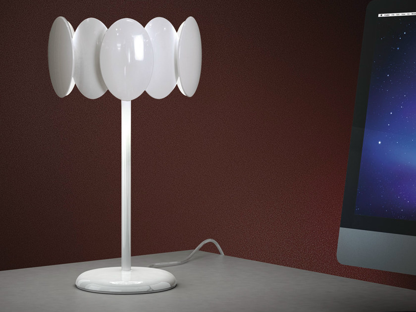 LED table lamp with fixed arm OBOLO 6495 by Milan Iluminación