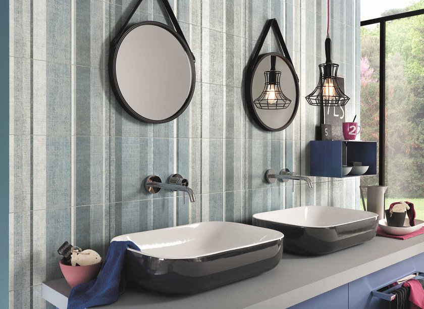 Indoor white-paste wall tiles COUTURE Ocean Rayé by Impronta Ceramiche
