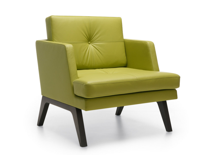 Fabric armchair with armrests OCTOBER 11 by profim