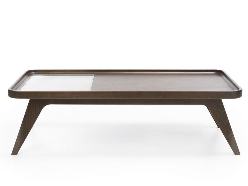 Tavolino da caffè rettangolare in legno OCTOBER S1 - profim
