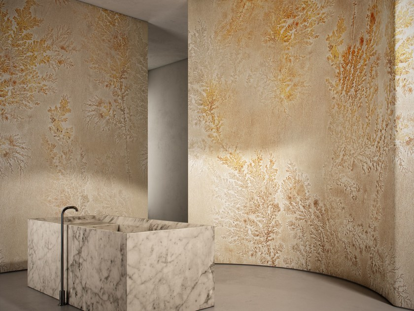 Washable vinyl wallpaper with floral pattern OCTOCORALLIA - GLAMORA