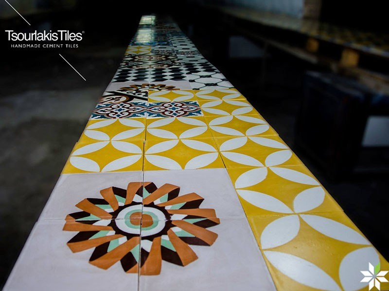 Indoor/outdoor cement wall/floor tiles ODYSSEAS 210 - TsourlakisTiles