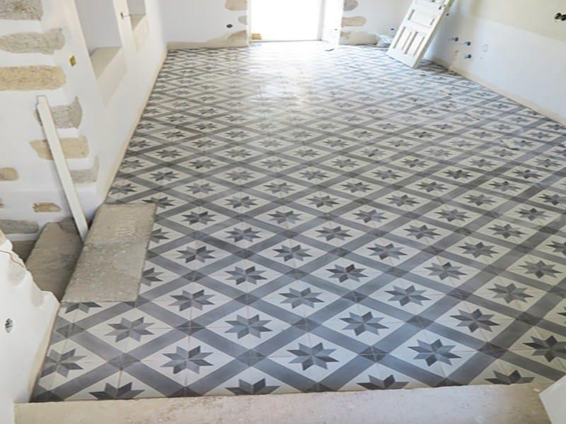 Indoor/outdoor cement wall/floor tiles ODYSSEAS 310 by TsourlakisTiles