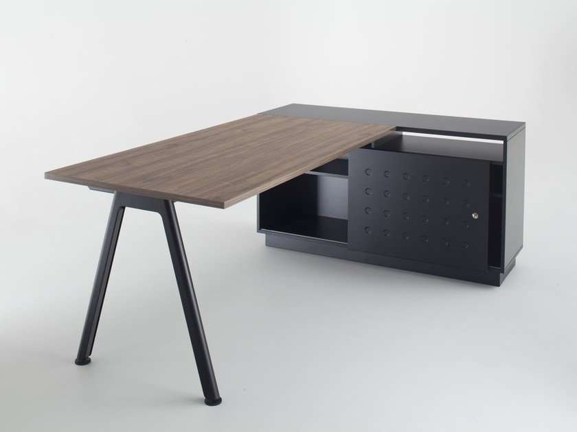 Rectangular workstation desk PLUS | Office desk - BALMA