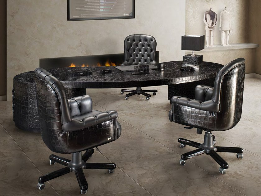 Leather executive desk with drawers PLACE VENDOME - Formitalia Group