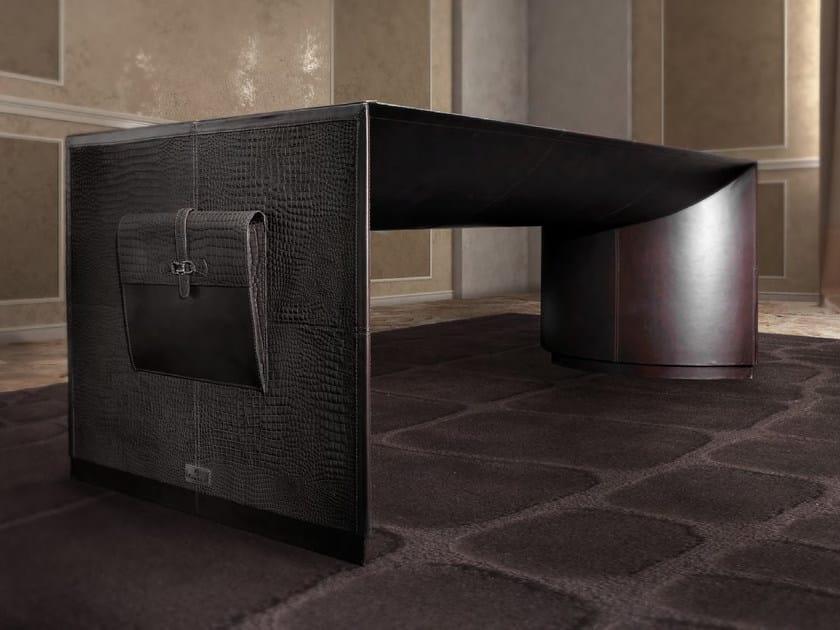 Rectangular leather executive desk MERCURY - Formitalia Group