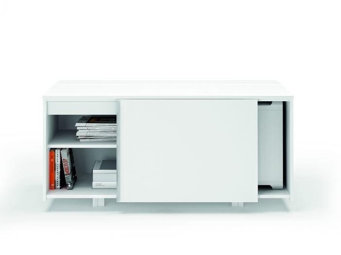 Office storage unit with sliding doors X8 | Office storage unit - Quadrifoglio Sistemi d'Arredo