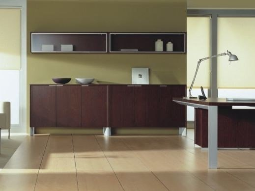 Modular office storage unit with hinged doors IN | Office storage unit - BALMA