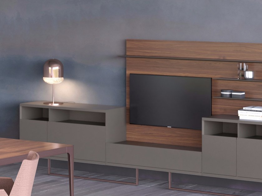 Lacquered office storage unit GRAND MORE   Office storage unit by ESTEL GROUP