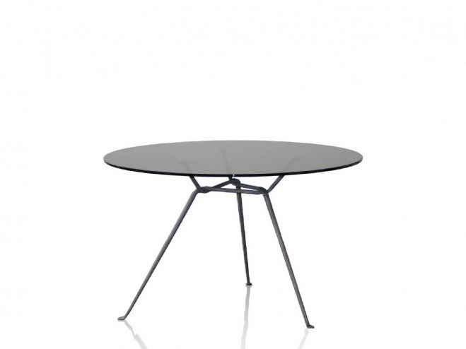 Round crystal table OFFICINA | Crystal table - Magis