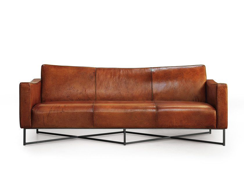 3 seater leather sofa ONDA | Leather sofa - Oliver B.