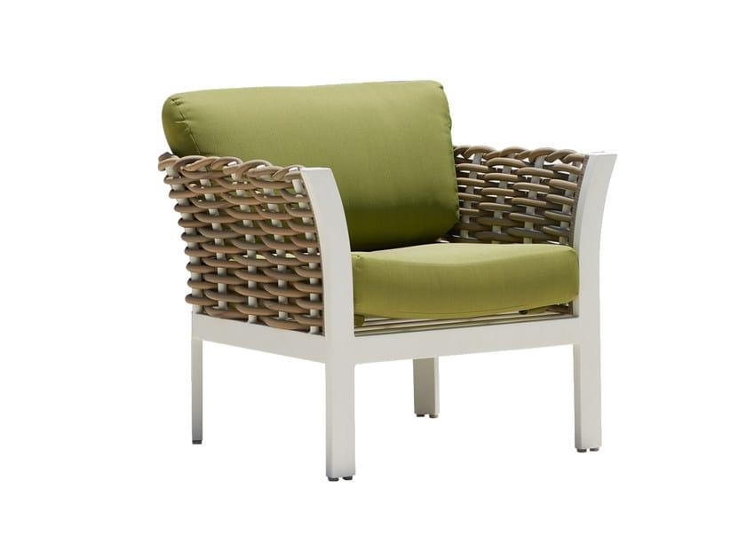 Poltroncina da giardino con braccioli per contract OLIVIA 23241 - SKYLINE design