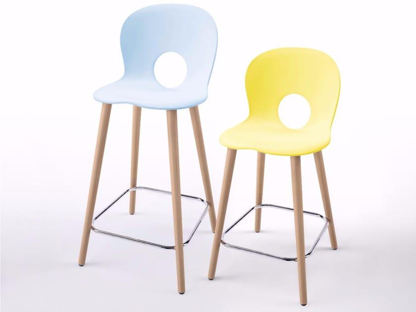 Polypropylene counter stool OLIVIA WOOD X - XL - REXITE