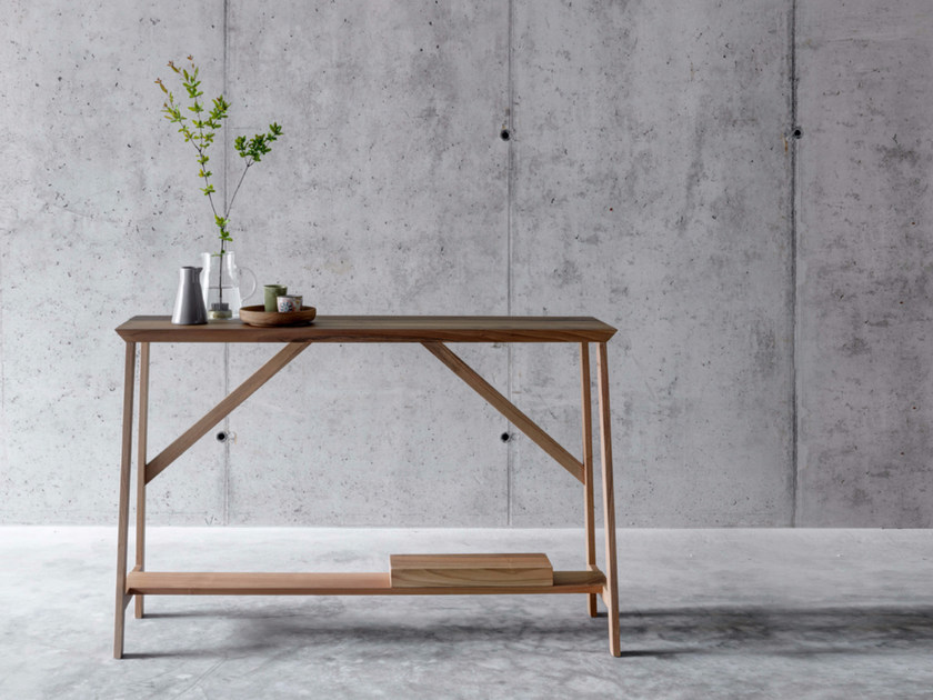 Rectangular walnut console table OLLA - FIORONI