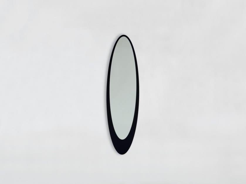 Oval wall-mounted framed mirror OLMI by Tonin Casa