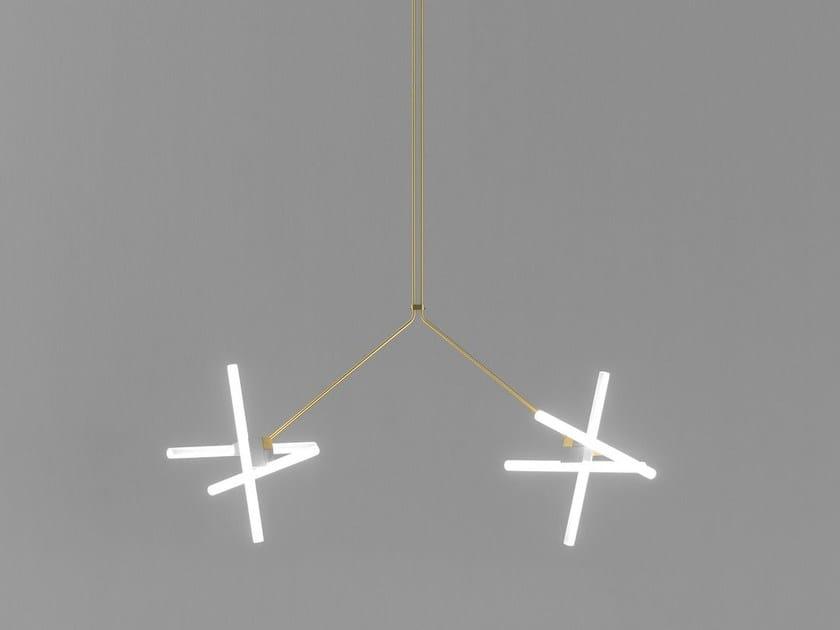 Lampada a sospensione a luce diretta OLVIDADA DOUBLE - BD Barcelona Design