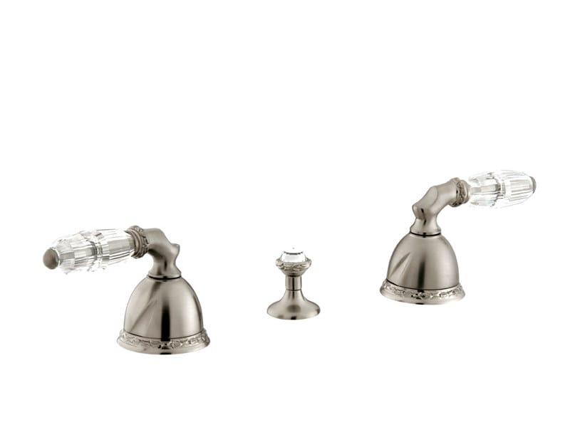 3 hole bidet tap with Swarovski® crystals OMAN | 3 hole bidet tap by Bronces Mestre