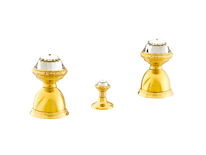 3 hole bidet tap with Swarovski® crystals OMAN   3 hole bidet tap by Bronces Mestre