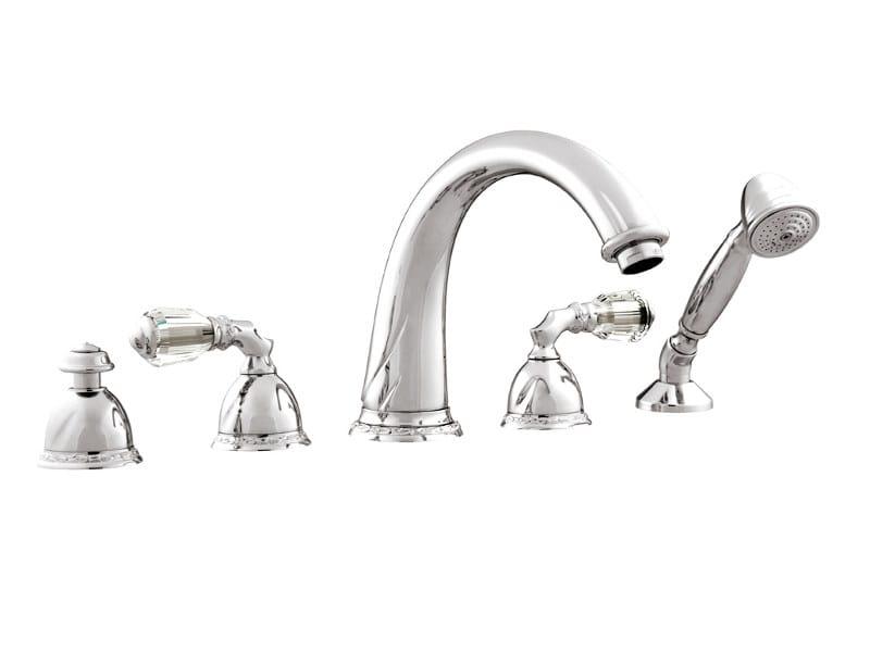 5 hole bathtub set with Swarovski® crystals OMAN | Bathtub set with Swarovski® crystals - Bronces Mestre