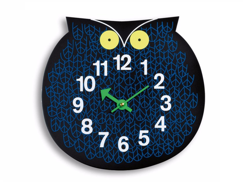 Wall-mounted kids clock OMAR THE OWL by Vitra
