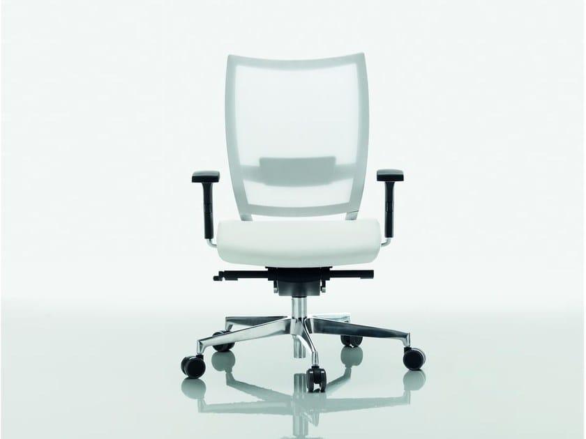 Mesh task chair with 5-Spoke base OMBRA | Mesh task chair - Quadrifoglio Sistemi d'Arredo