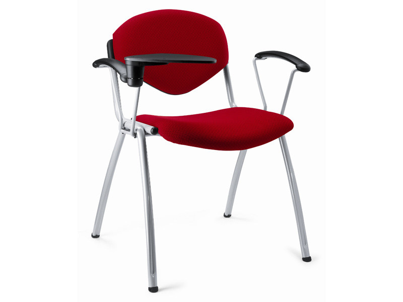 Stackable fabric training chair with writing tablet OMNIA CONTRACT | Fabric chair - Ares Line