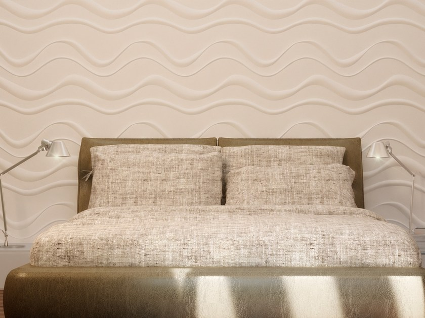 Indoor gypsum 3D Wall Panel ONDE - Profilgessi