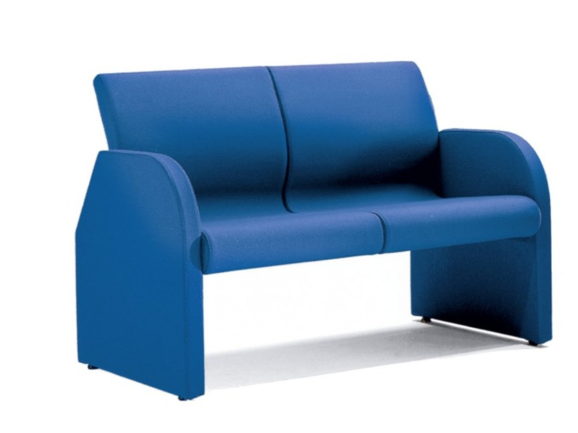 Fabric bench seating with back ONE 402 by TALIN