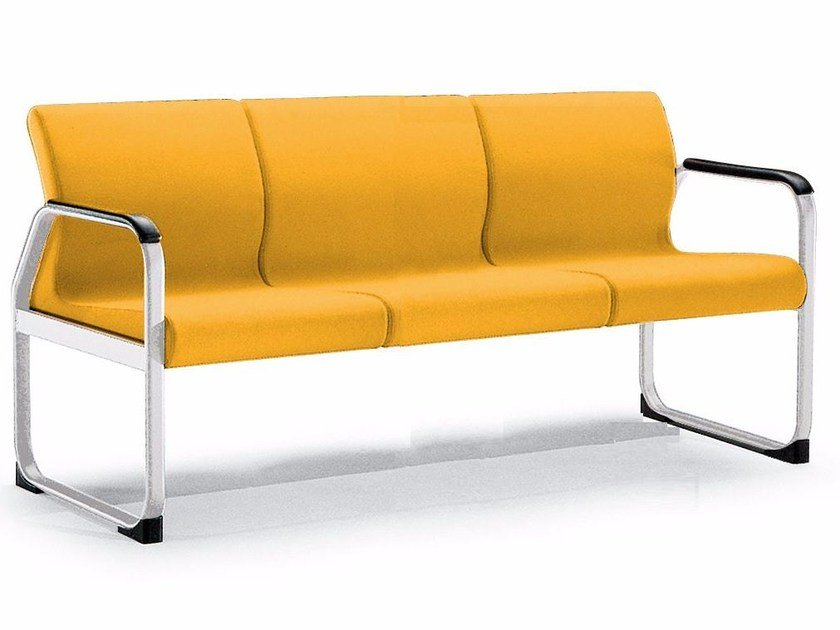 Fabric bench seating with back ONE 403 A - TALIN