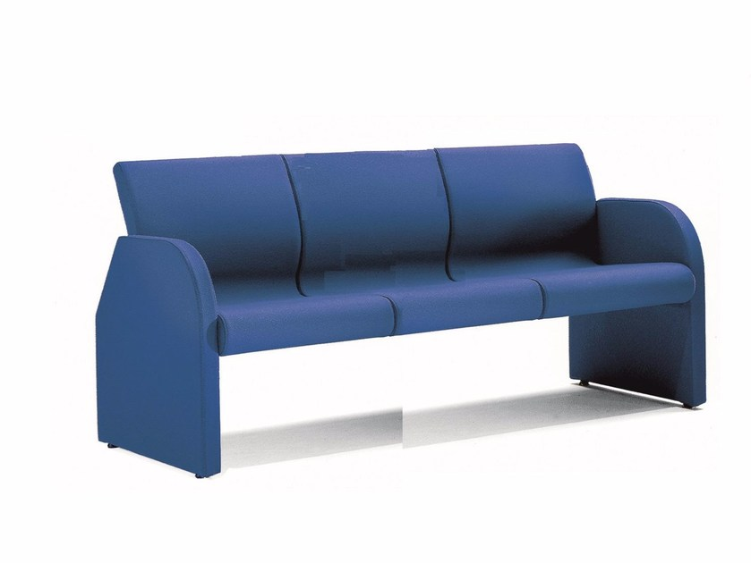 Fabric bench seating with back ONE 403 - TALIN