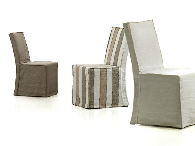 Upholstered fabric chair ONE by Papadatos