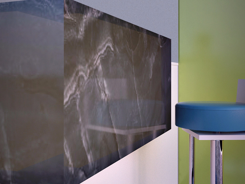 Rivestimento in vetro effetto onice ONIX by VETROVIVO