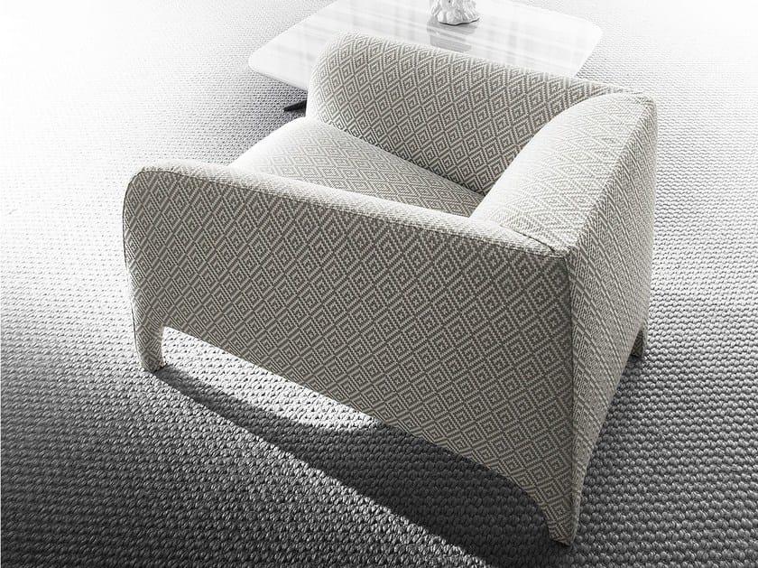 Club upholstered armchair OPALE by ERBA ITALIA