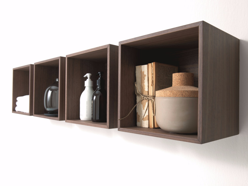 Open sectional wall cabinet QUATTRO.ZERO | Open wall cabinet - FALPER